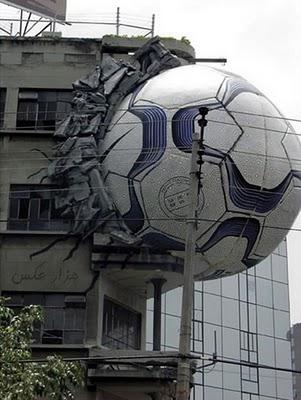 بزرگترین توپ فوتبال جهان